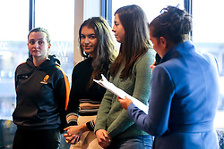 Worcester Warriors Women players take part in a meet and greet in hospitality - Mandatory by-line: Robbie Stephenson/JMP - 11/01/2020 - RUGBY - Sixways Stadium - Worcester, England - Worcester Warriors v Enisei-STM - European Rugby Challenge Cup