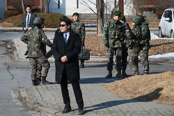 February 8, 2018 - Pyeongchang, SOUTH KOREA - 180208 Security and military personel ahead of the 2018 Winter Olympics on February 8, 2018 in Pyeongchang..Photo: Joel Marklund / BILDBYRN / kod JM / 87608 (Credit Image: © Joel Marklund/Bildbyran via ZUMA Press)