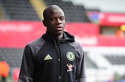 Ngolo Kante of Chelsea makes his way into liberty stadium.  - Mandatory byline: Alex James/JMP - 07966386802 - 11/09/2016 - FOOTBALL - Barclays premier league -swansea,Wales - Swansea v Chelsea  -