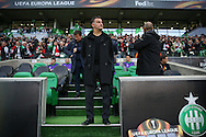 Saint-Etienne Manager Christophe Galtier during the Europa League match between Saint-Etienne and Manchester United at Stade Geoffroy Guichard, Saint-Etienne, France on 22 February 2017. Photo by Phil Duncan.
