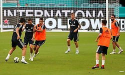 July 30, 2018 - Miami Gardens, Florida, USA - Real Madrid C.F. players practice during an open training session for the International Champions Cup match between Real Madrid C.F. and Manchester United F.C. at the Hard Rock Stadium in Miami Gardens, Florida. (Credit Image: © Mario Houben via ZUMA Wire)