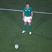 Ronan O' Gara kickiing a penalty during the Ireland V Italy Pool C match during the IRB Rugby World Cup tournament. Otago Stadium, Dunedin, New Zealand, 2nd October 2011. Photo Tim Clayton...