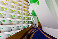Interior view, Burj al Arab Hotel, Dubai, United Arab Emirates