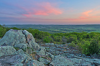 Bald Knob is the only part of Buford Mountain Conservation Area that has a view through the thick trees. The spectacular view is to the west, perfect for watching the sunset over the Belleview Valley.<br />