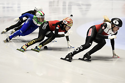 February 8, 2019 - Torino, Italia - Foto LaPresse/Nicolò Campo .8/02/2019 Torino (Italia) .Sport.ISU World Cup Short Track Torino - 500 meter Ladies Preliminaries.Nella foto: Natalia Maliszewska, Yihan Guo Cynthia Mascitto..Photo LaPresse/Nicolò Campo .February 8, 2019 Turin (Italy) .Sport.ISU World Cup Short Track Turin - 500 meter Ladies Preliminaries.In the picture: Natalia Maliszewska, Yihan Guo Cynthia Mascitto (Credit Image: © Nicolò Campo/Lapresse via ZUMA Press)