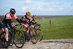 Jip van den Bos (NED) attacks the VAMberg cobbles at Drentse 8 van Westerveld 2019, a 145 km road race starting and finishing in Dwingeloo, Netherlands on March 15, 2019. Photo by Sean Robinson/velofocus.com