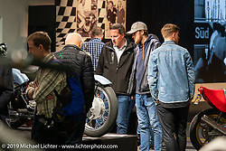 Display of antique Swiss manufactured motorcycles in the Swiss-Moto Customizing and Tuning Show. Zurich, Switzerland. Friday, February 22, 2019. Photography ©2019 Michael Lichter.