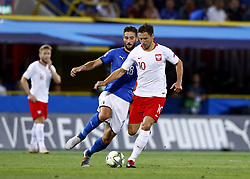 September 7, 2018 - Bologna, Italy - Italy v Poland - UEFA Nations League..Roberto Gagliardini of Italy and Grzegorz Krychowiak of Poland at Renato Dall'Ara Stadium in Bologna, Italy on September 7, 2018. (Credit Image: © Matteo Ciambelli/NurPhoto/ZUMA Press)