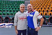 Roberto Venerandi, Matteo Boccolini<br /> Dinamo Banco di Sardegna Sassari - Consultinvest Victoria Libertas Pesaro<br /> Lega Basket Seire A 2016/2017<br /> Sassari 30/10/2016<br /> Foto Ciamillo-Castoria
