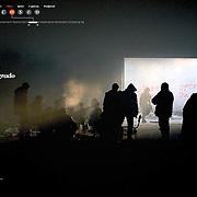 """Tearsheet of """"Migrants in Belgrade"""" published in Courrier Internacional"""