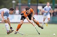 EINDHOVEN - hockey - Niek van der Schoot van OZ tijdens de hoofdklasse hockeywedstrijd tussen de mannen van Oranje-Zwart en Bloemendaal (3-3). COPYRIGHT KOEN SUYK