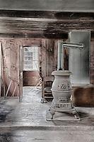 Pot belly stove at the Hancock Shaker Village in Massachusetts.