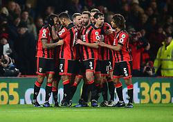 Callum Wilson of Bournemouth celebrates with Joshua King of Bournemouth - Mandatory by-line: Alex James/JMP - 03/01/2017 - FOOTBALL - Vitality Stadium - Bournemouth, England - Bournemouth v Arsenal - Premier League