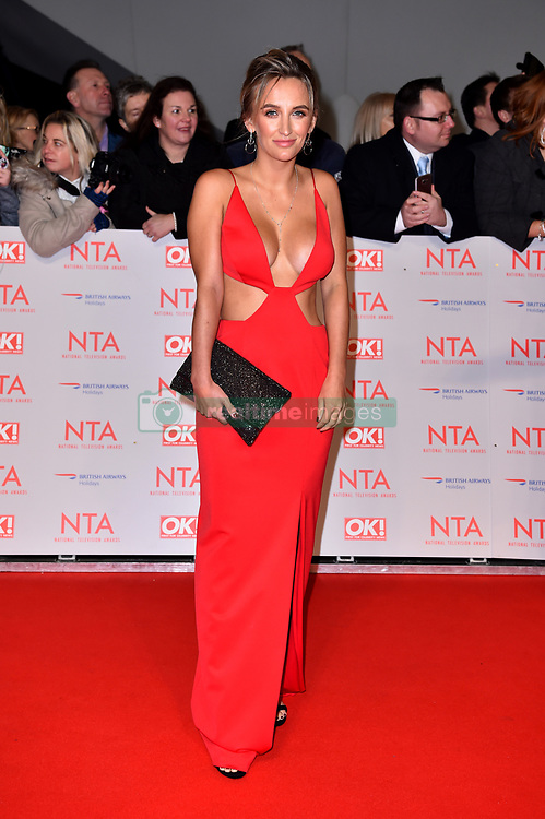 Tiffany Watson attending the National Television Awards 2018 held at the O2 Arena, London.