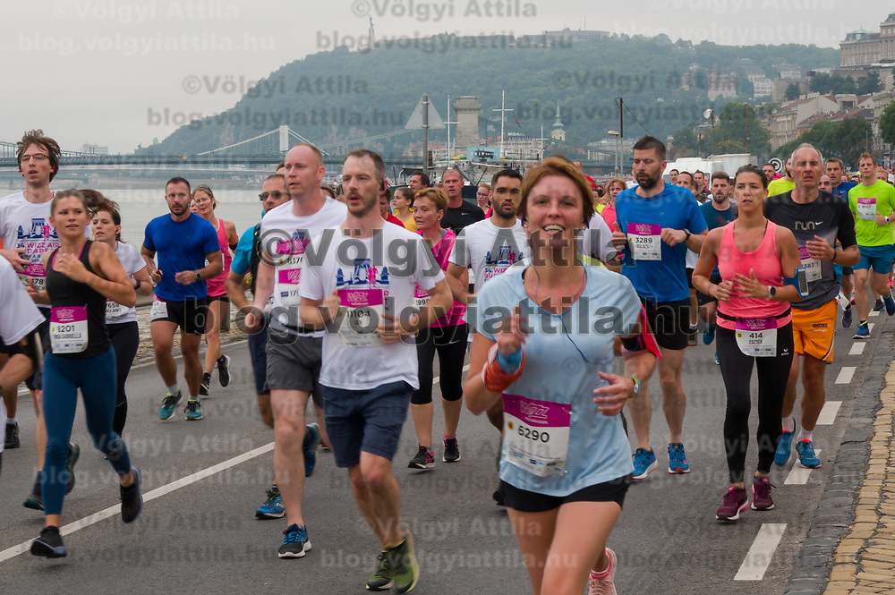 Tens of thousands of people participate the Budapest Half Marathon across the streets in Budapest, Hungary on Sept. 8, 2019. ATTILA VOLGYI