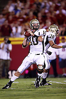 1 September 2007: Quarterback #10 Nathan Enderle during USC Trojans college football team defeated the Idaho Vandals 38-10 at the Los Angeles Memorial Coliseum in CA.  NCAA Pac-10 #1 ranked team first game of the season.