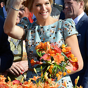 Koningsdag 2014 in de Rijp, het vieren van de verjaardag van de koning. / Kingsday 2014 in the Rijp , celebrating the birthday of the King. <br /> <br /> <br /> Op de foto / On the photo:   Koningin Maxima / Queen Maxima