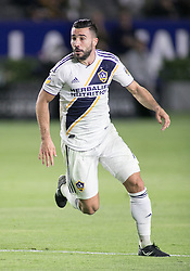 May 25, 2018 - Carson, California, U.S - Romain Alessandrini #7 of the LA Galaxy scores the winning goal during their MLS game against the San Jose Earthquakes on Friday May 25, 2018 at the StubHub Center in Carson, California. LA Galaxy defeats the Earthquakes, 1-0. (Credit Image: © Prensa Internacional via ZUMA Wire)