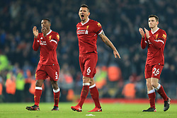 14 January 2018 - Premier League Football - Liverpool v Manchester City - Dejan Lovren of Liverpool celebrates their 4-3 victory - Photo: Simon Stacpoole / Offside