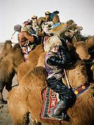 A participant to a camel race festival in Bulgan. Road trip with a Jeep in the Gobi region.<br /> <br /> Travels in the Gobi desert region.