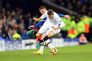 James McCarthy of Everton tackles Gylfi Sigudsson of Swansea City. Premier league match, Everton v Swansea city at Goodison Park in Liverpool, Merseyside on Saturday 19th November 2016.<br /> pic by Chris Stading, Andrew Orchard sports photography.