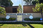 Veterans Memorial Park Signage