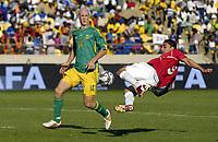 Fotball<br /> Privatlandskamp<br /> Sør Afrika v Norge 2-1<br /> Rustenburg<br /> 28.03.2009<br /> Foto: Vegard Fiskerstrand, Digitalsport<br /> <br /> Mohammed Abdellaoue - NOR