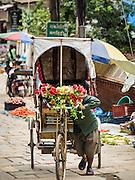 01 AUGUST 2015 - KATHMANDU, NEPAL:  A street scene in a neighborhood near Durbar Square in Kathmandu.       PHOTO BY JACK KURTZ
