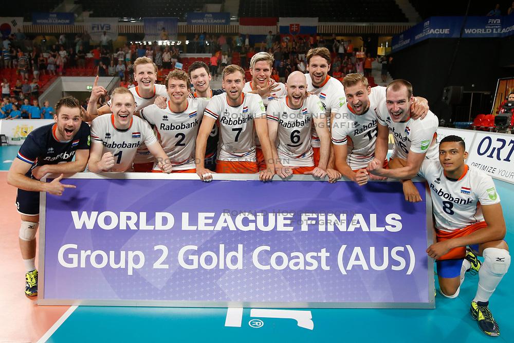 20170618 NED: FIVB Volleybal World League 2017 The Netherlands - Czech Republic: Den Haag <br />The Netherlands qualify for the World Tour Finals Gold Coast Australie <br />©2017-FotoHoogendoorn.nl / Pim Waslander