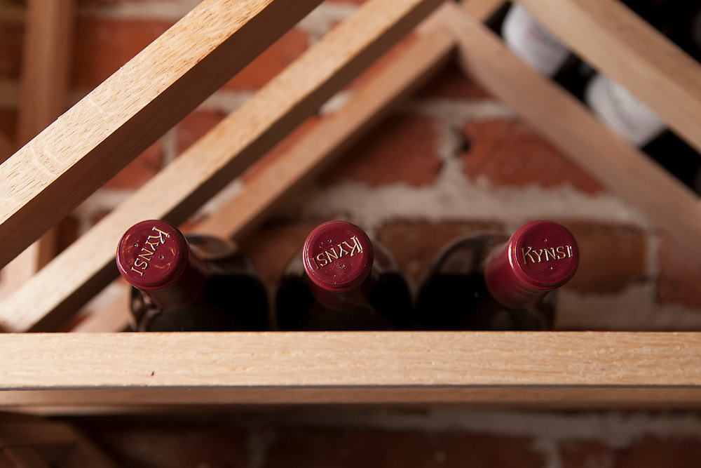 12 July 2012- Mike Phillips wine celler is photographed for Omaha Magazine.