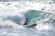 November 4th 2010: Antoine Delpero bottom turns on a Makaha left during the final of the ASP World Longboard Championship at Makaha Oahu-Hawaii. Photo by Matt Roberts/mattrIMAGES.com.au