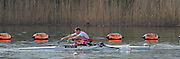 Caversham. Berkshire. UK<br /> ASM M1X Tom AGGAR,sculling during the 2016 GBRowing, Para Rowing Media Day, UK GBRowing Training base near Reading, Berkshire.<br /> <br /> Friday  15/04/2016<br /> <br /> [Mandatory Credit; Peter SPURRIER/Intersport-images]