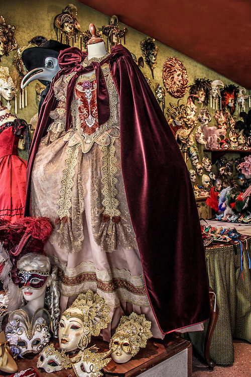 Venice mask and costume shop, Italy