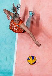28-05-2019 NED: Volleyball Nations League Netherlands - Brazil, Apeldoorn<br /> <br /> Marrit Jasper #18 of Netherlands