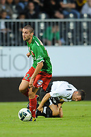 FOOTBALL - FRENCH CHAMPIONSHIP 2010/2011 - L2 - SCO ANGERS v CS SEDAN - 27/08/2010 - PHOTO PASCAL ALLEE / DPPI - PIERRICK VALDIVIA (SEDAN) / MICHAEL STEPHAN (SCO)