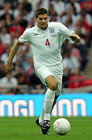 England vs Slovenia International Friendly 05/09/09<br /> Photo Nicky Hayes Fotosports International<br /> Steven Gerrard in action.