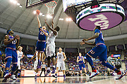 FORT WORTH, TX - FEBRUARY 6: Sviatoslav Mykhailiuk #10 of the Kansas Jayhawks drives to the basket against the TCU Horned Frogs on February 6, 2016 at the Ed and Rae Schollmaier Arena in Fort Worth, Texas.  (Photo by Cooper Neill/Getty Images) *** Local Caption *** Sviatoslav Mykhailiuk