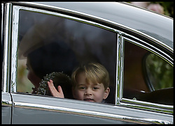 May 20, 2017 - London, London, United Kingdom - Image ©Licensed to i-Images Picture Agency. 20/05/2017. London, United Kingdom. Pippa Middleton wedding to James Matthews. ..HRH Prince George of Cambridge at the wedding of his aunt Pippa Middleton and James Matthews at St Mark's Church, Englefield, Berkshire, ..Picture by  i-Images / Pool (Credit Image: © i-Images via ZUMA Press)