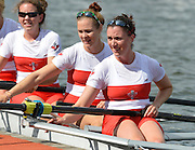 Trackai. LITHUANIA. CAN BW4-. Bow, Christine ROPER, Susanne GRAINGER, Cherly COPSON and Antje VON SEYDLITZ-KURZBACH Gold medalist in the women's four at the 2012 FISA U23 World Rowing Championships,  Lake Galve. 16:21:31  Saturday  14/07/2012 [Mandatory Credit: Peter Spurrier/Intersport Images]..Rowing. 2012. U23.