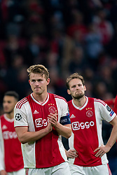 08-05-2019 NED: Semi Final Champions League AFC Ajax - Tottenham Hotspur, Amsterdam<br /> After a dramatic ending, Ajax has not been able to reach the final of the Champions League. In the final second Tottenham Hotspur scored 3-2 / Matthijs de Ligt #4 of Ajax, Daley Blind #17 of Ajax
