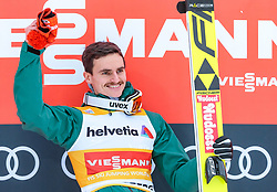 17.12.2017, Gross Titlis Schanze, Engelberg, SUI, FIS Weltcup Ski Sprung, Engelberg, im Bild Sieger Richard Freitag (GER) // Winner Richard Freitag of Germany during Mens FIS Skijumping World Cup at the Gross Titlis Schanze in Engelberg, Switzerland on 2017/12/17. EXPA Pictures © 2017, PhotoCredit: EXPA/JFK