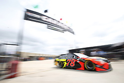 April 6, 2018 - Ft. Worth, Texas, United States of America - April 06, 2018 - Ft. Worth, Texas, USA: Martin Truex, Jr (78) gets ready to practice for the O'Reilly Auto Parts 500 at Texas Motor Speedway in Ft. Worth, Texas. (Credit Image: © Stephen A. Arce Asp Inc/ASP via ZUMA Wire)