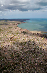 The coast near the King George River on the east Kimberley coast.