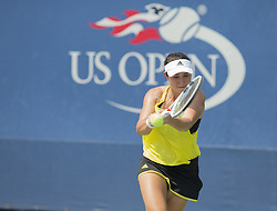 August 22, 2017 - New York, New York, United States - Kelly Chen of USA returns ball during qualifying game against Su-Wei Hsieh of Chinese Taipei Taiwan at US Open 2017  (Credit Image: © Lev Radin/Pacific Press via ZUMA Wire)