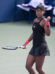 September 1, 2018 - Flushing Meadows, New York, U.S - Naomi Osaka during her match against Aliaksandra Sasnovich on Day 6 of the 2018 US Open at USTA Billie Jean King National Tennis Center on Saturday September 1, 2018 in the Flushing neighborhood of the Queens borough of New York City. Osaka defeats Sasnovich 6-0, 6-0. (Credit Image: © Prensa Internacional via ZUMA Wire)