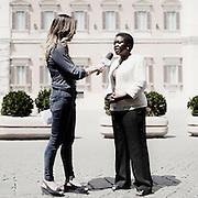 Cécile Kyenge,  politica italiana di origine congolese, ministro dell'Integrazione. Roma, 21 giugno 2013. Christian Mantuano / OneShot <br /> Cécile Kyenge, Italian politics of Congolese origin, Minister of Integration. Rome, 21 june 2013. Christian Mantuano / OneShot