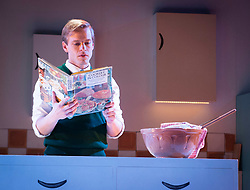 Nigel Slater's Toast <br /> Adapted by Henry Filloux-Bennett <br /> At The Other Place, London, Great Britain <br /> Press photo call <br /> <br /> Opens on 4th April 2019 <br /> <br /> Giles Cooper as Nigel Slater<br /> <br /> <br /> Photograph by Elliott Franks