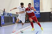 Futsal: 1. Bundesliga, HSV-Panthers - Stuttgart Futsal Club, Hamburg, 11.09.2021<br /> Josip Sesar (Stuttgart, r.)<br /> © Torsten Helmke