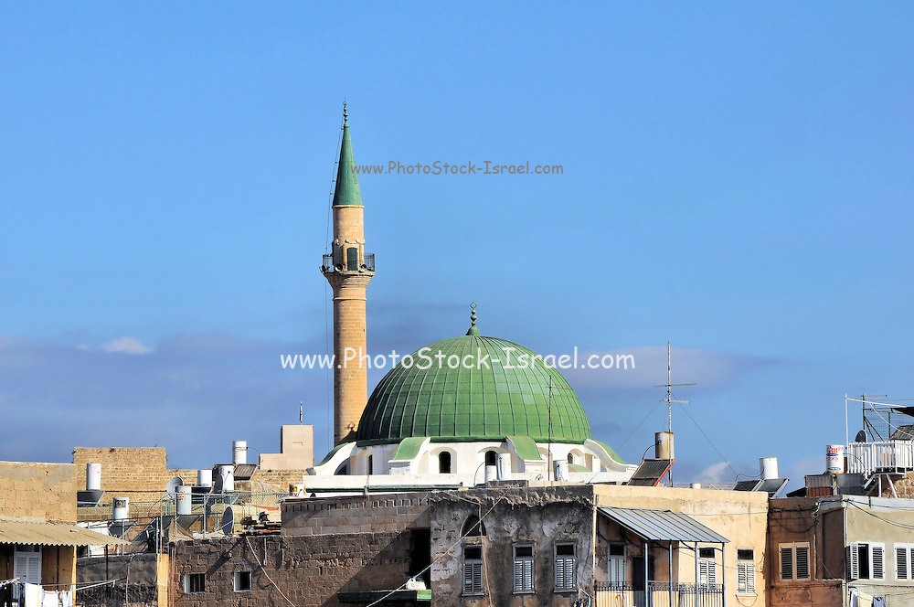 Israel, Galilee, Acre the Old walled City, Ahmed Al Jazzar mosque