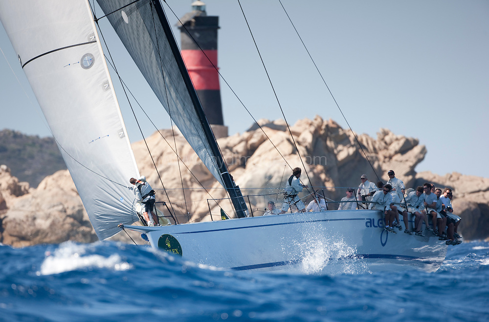 """9th September 2009. Rolex Maxi Worlds 2009.Costa Smeralda YC. Sardinia. Italy..Picture shows """"Alegre"""" GBR 6880. The mini maxi owned by Andy Soriano....Please credit all pictures: Mark Lloyd/Lloyd Images"""